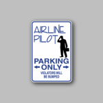 Airline Pilot Parking Only Sticker