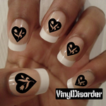 Hearts MC005 Fingernail Art Sticker - Vinyl Finger Nail Decals