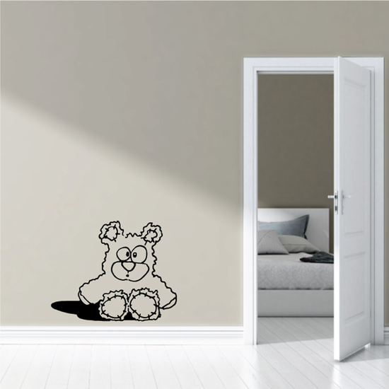 Cartoon Bear Plush Toy Decal