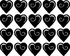 Hearts MC006 Fingernail Art Sticker - Vinyl Finger Nail Decals