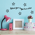 Hitch your wagon to a star Wall Decal