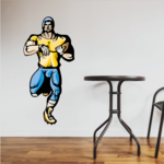 Football Player Wall Decal - Vinyl Sticker - Car Sticker - Die Cut Sticker - CDSCOLOR211