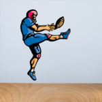 Football Player Wall Decal - Vinyl Sticker - Car Sticker - Die Cut Sticker - CDSCOLOR212