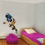 Football Player Wall Decal - Vinyl Sticker - Car Sticker - Die Cut Sticker - CDSCOLOR236