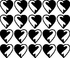 Hearts MC024 Fingernail Art Sticker - Vinyl Finger Nail Decals