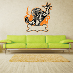 Football Wall Decal - Vinyl Sticker - Car Sticker - Die Cut Sticker - SMcolor005