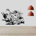 Football Wall Decal - Vinyl Decal - Car Decal - Bl043