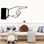 Pointing Hand Wall Decal - Vinyl Decal - Car Decal - Business Sign - MC01