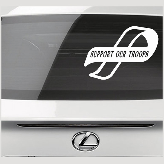 Support Our Troops Ribbon Decal