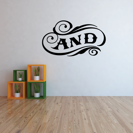 And Wall Decal - Vinyl Decal - Car Decal - Business Sign - MC09