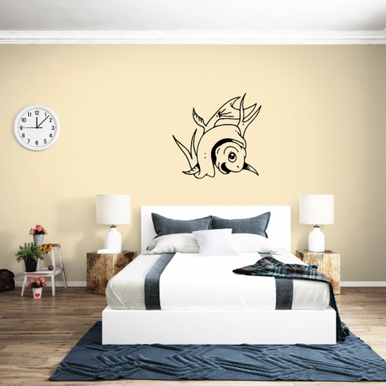 Goldfish and Banner Decal