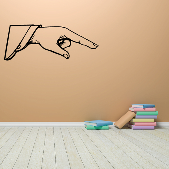 Pointing Hand Wall Decal - Vinyl Decal - Car Decal - Business Sign - MC18