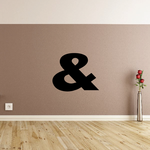 And Symbol Wall Decal - Vinyl Decal - Car Decal - Business Sign - MC21
