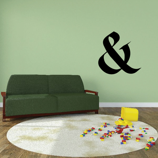 And Symbol Wall Decal - Vinyl Decal - Car Decal - Business Sign - MC23