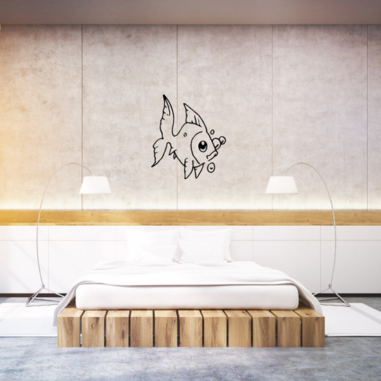 Bubbly Goldfish Decal