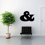 And Symbol Wall Decal - Vinyl Decal - Car Decal - Business Sign - MC27