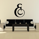 And Symbol Wall Decal - Vinyl Decal - Car Decal - Business Sign - MC32