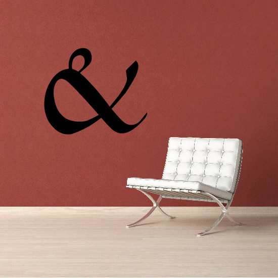 And Symbol Wall Decal - Vinyl Decal - Car Decal - Business Sign - MC33