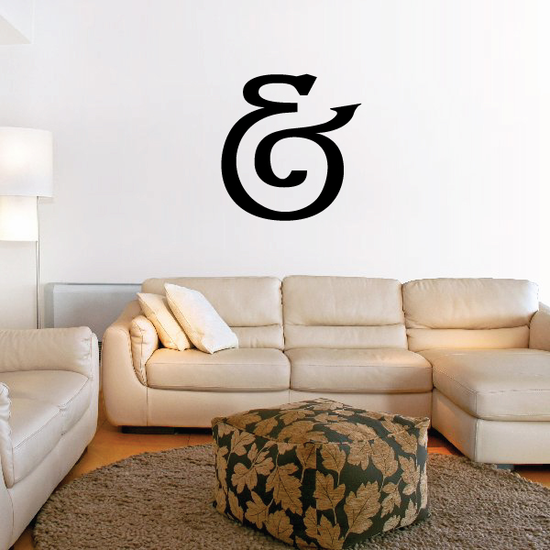 And Symbol Wall Decal - Vinyl Decal - Car Decal - Business Sign - MC35