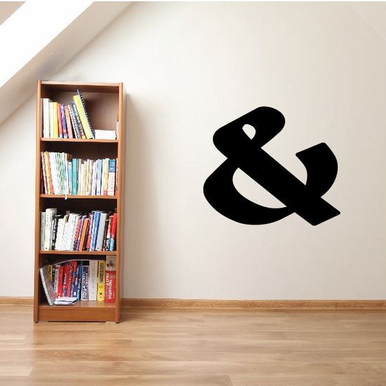 And Symbol Wall Decal - Vinyl Decal - Car Decal - Business Sign - MC37