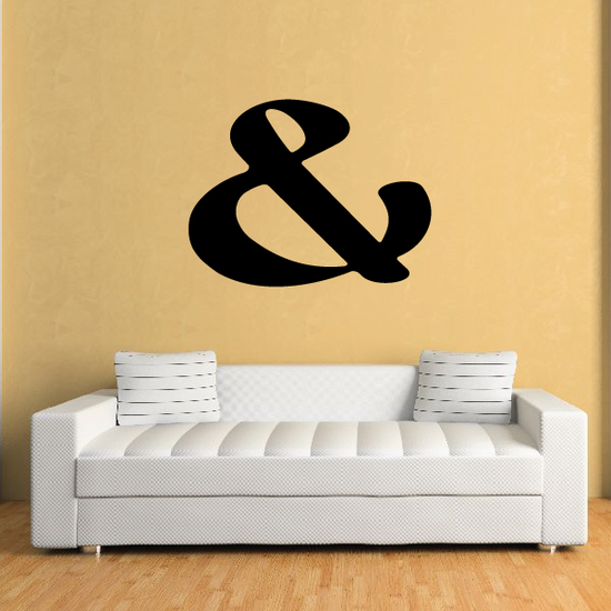 And Symbol Wall Decal - Vinyl Decal - Car Decal - Business Sign - MC42