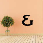 And Symbol Wall Decal - Vinyl Decal - Car Decal - Business Sign - MC45