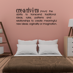 Creativity Definition Wall Decal