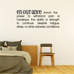 Endurance Definition Wall Decal