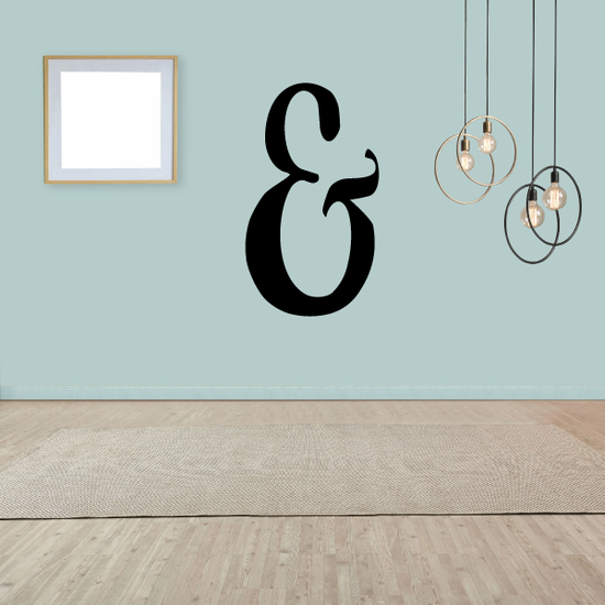 And Symbol Wall Decal - Vinyl Decal - Car Decal - Business Sign - MC48
