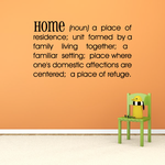 Home Definition Wall Decal