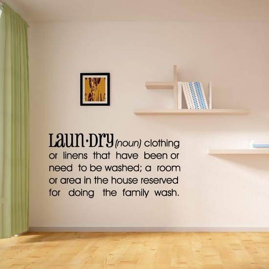 Laundry Definition Wall Decal