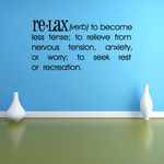 Relax Definition Wall Decal
