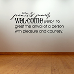 Friends and family welcome Definition Wall Decal