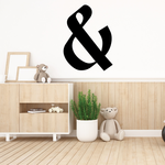 And Symbol Wall Decal - Vinyl Decal - Car Decal - Business Sign - MC54