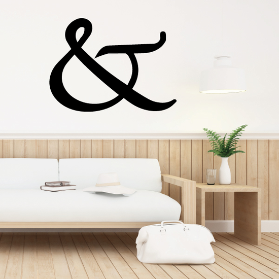 And Symbol Wall Decal - Vinyl Decal - Car Decal - Business Sign - MC55