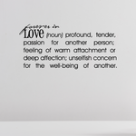 Forever in love Definition Wall Decal