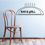 Bar And Grill Wall Decal - Vinyl Decal - Car Decal - Business Sign - MC58