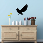 Flying and Landing Bluebird Decal