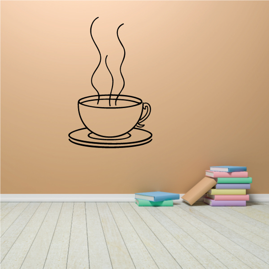 Coffe Cup Mug Wall Decal - Vinyl Decal - Car Decal - Business Sign - MC61