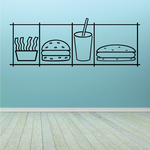 Fast Food Wall Decal - Vinyl Decal - Car Decal - Business Sign - MC65