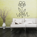 Flower Wall Decal - Vinyl Decal - Car Decal - Business Sign - MC66
