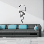 Ice Cream Cone Wall Decal - Vinyl Decal - Car Decal - Business Sign - MC69
