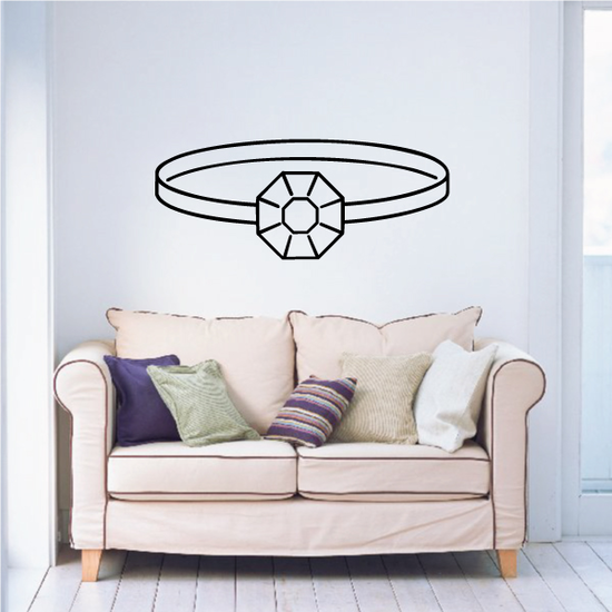 Diamond Ring Rings Wall Decal - Vinyl Decal - Car Decal - Business Sign - MC70