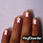 Ribbons ST002 Fingernail Art Sticker - Vinyl Finger Nail Decals
