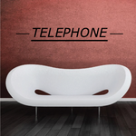 Telephone Wall Decal - Vinyl Decal - Car Decal - Business Sign - MC78