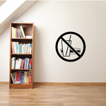 No Food Or Drinks Wall Decal - Vinyl Decal - Car Decal - Business Sign - MC86