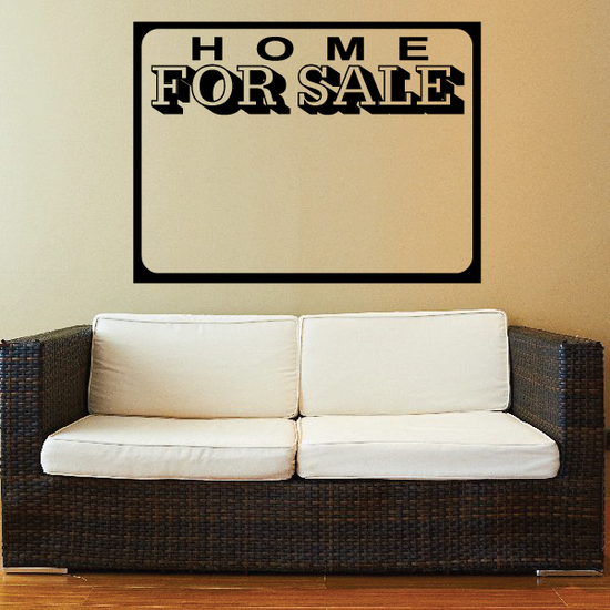 Home For Sale Wall Decal - Vinyl Decal - Car Decal - Business Sign - MC92