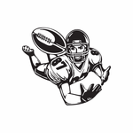 Football Wall Decal - Vinyl Decal - Car Decal - DC 002