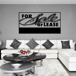 For Sale Or Lease Wall Decal - Vinyl Decal - Car Decal - Business Sign - MC96