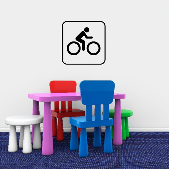 Bicycle Sign Decal